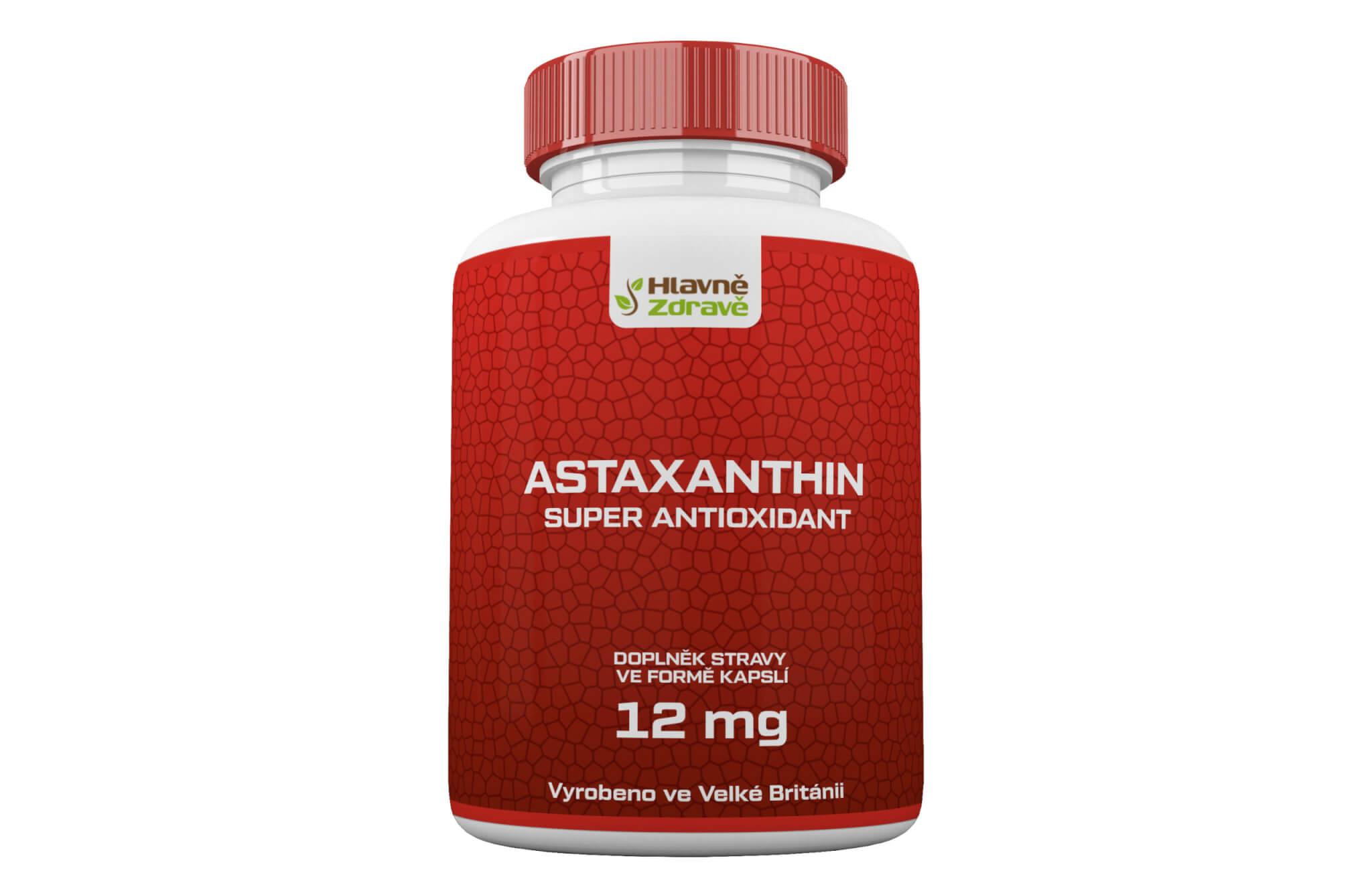 Astaxanthin 12mg - silný přírodní antioxidant