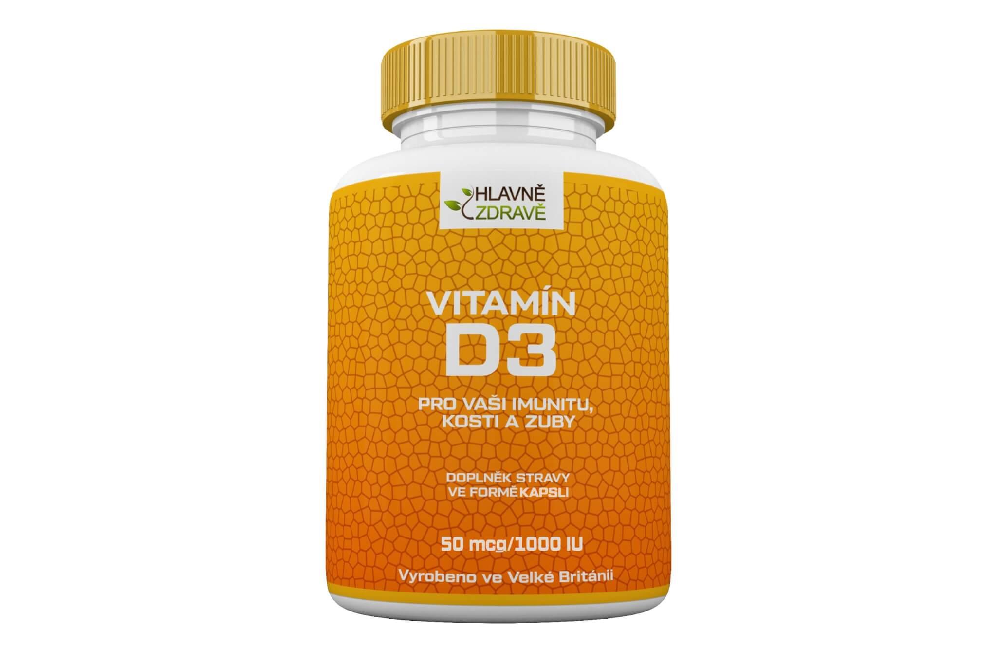 Vitamín D3 1000 iu kapsle