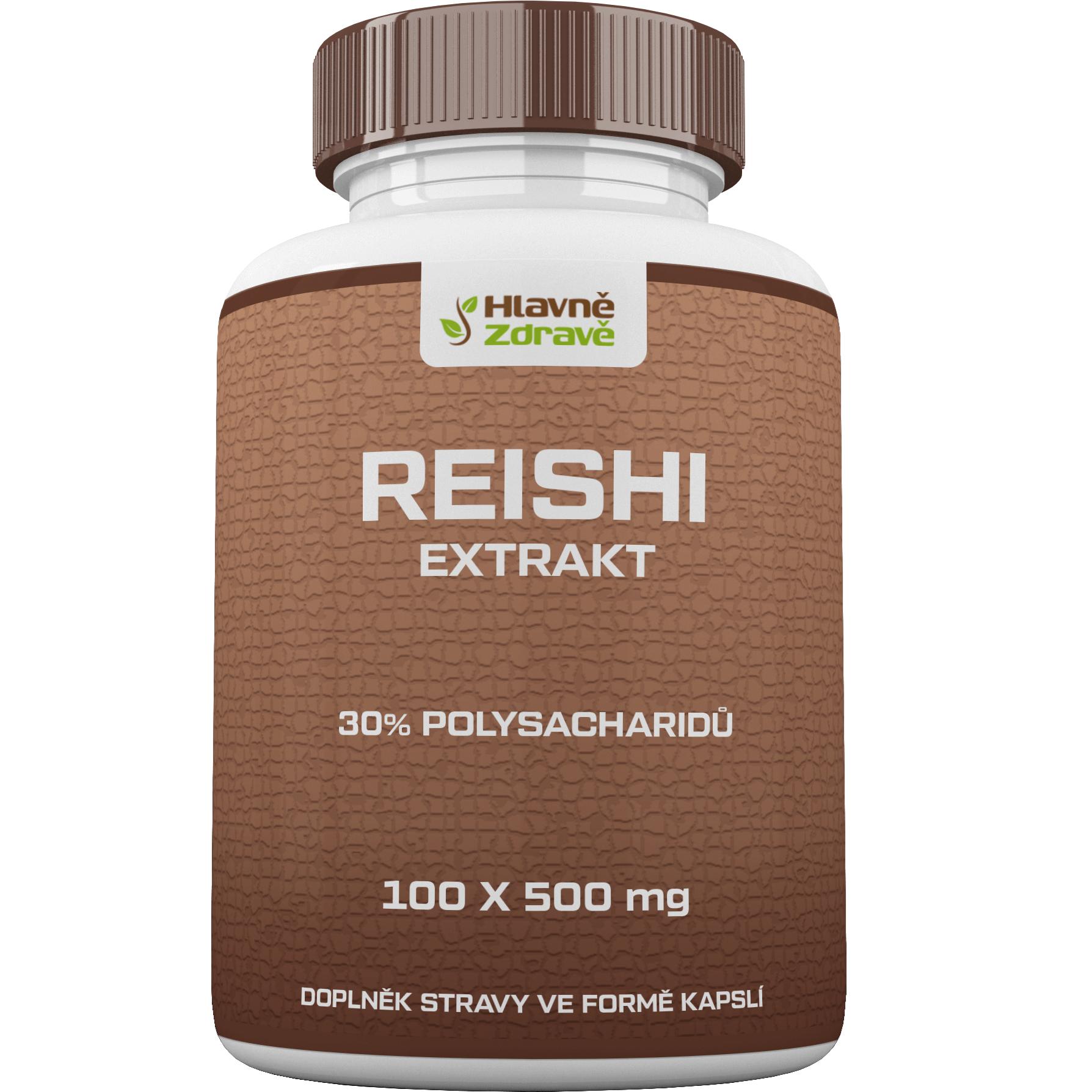 reishi extrakt prášek 30% polysacharidů 100 kapslí x 500mg